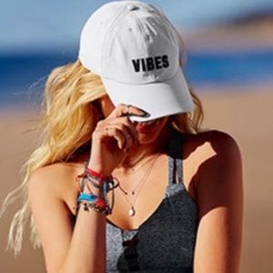 """PINK """"Vibes"""" Hat - NWT"""